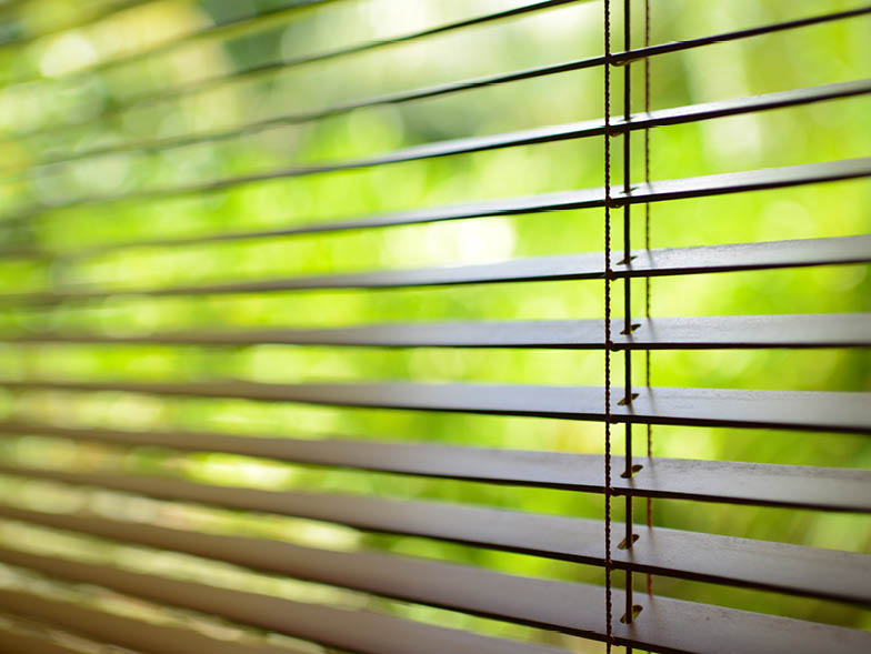 blinds looking outside