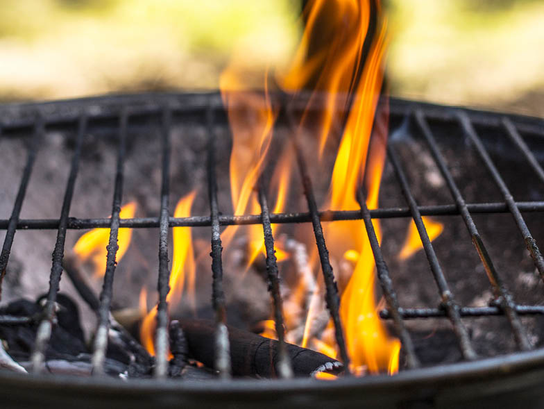 charcoal grill, image, fire, flame