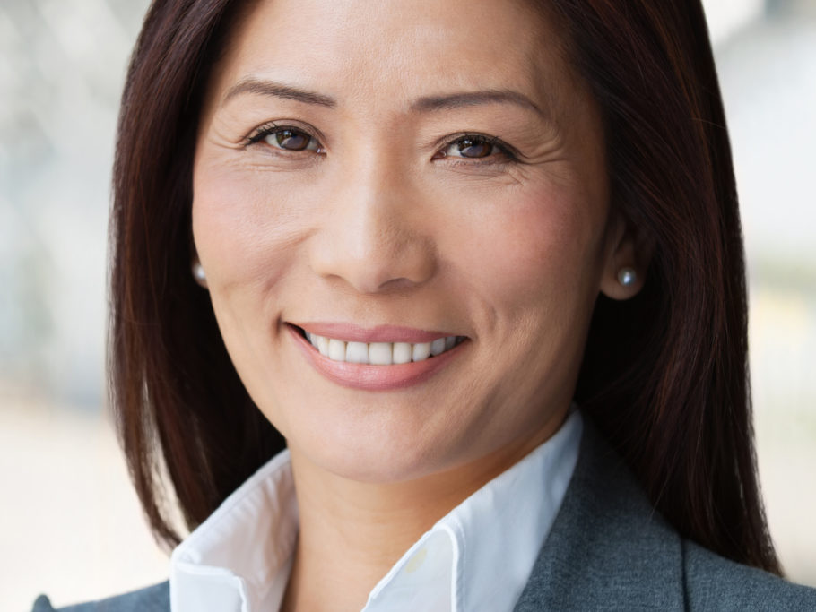 closeup of woman in business attire